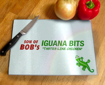 Son of Bobs Iguana Bits Stall Chopping Board Inspired by Fallout
